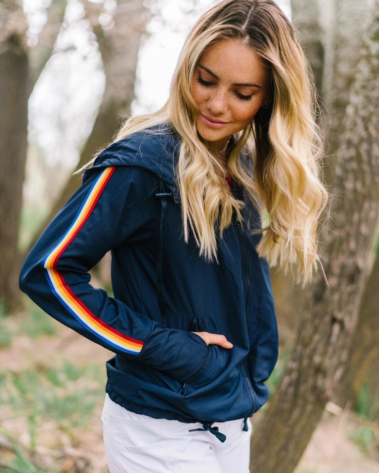 Zyia Rainbow Bomber Jacket L