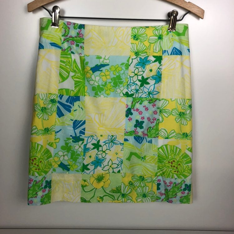 Lilly Pulitzer Floral Patchwork Skirt, S