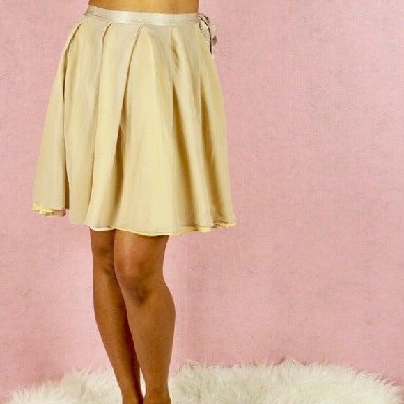 Twinkle by Wenlan Silk Chiffon Skirt