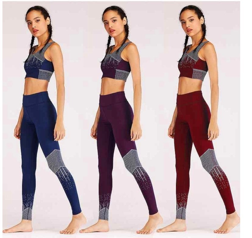 Red Women Leggings sets with Pockets