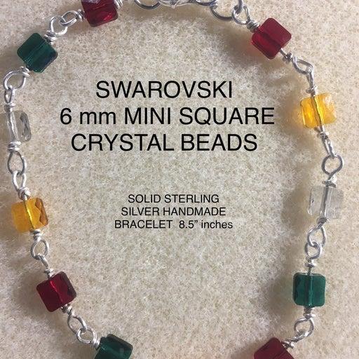 Solid Sterling Silver SWAROVSKI bracelet