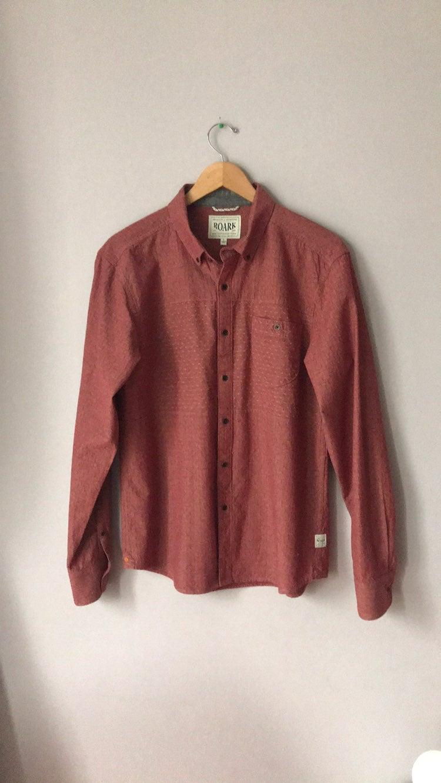 Roark Brick Red Men's Button Up Shirt