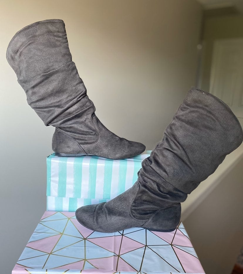 Grey Boots Size 6