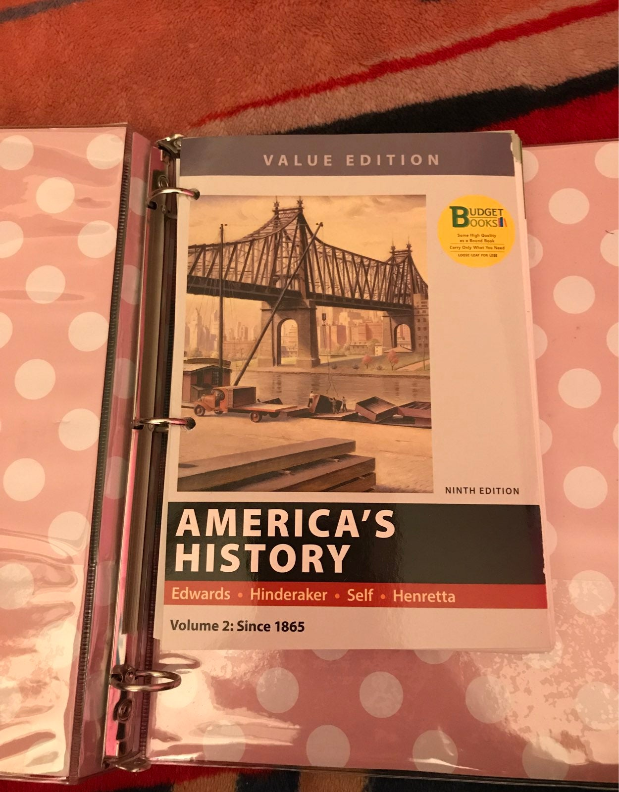 american history loose-leaf text book