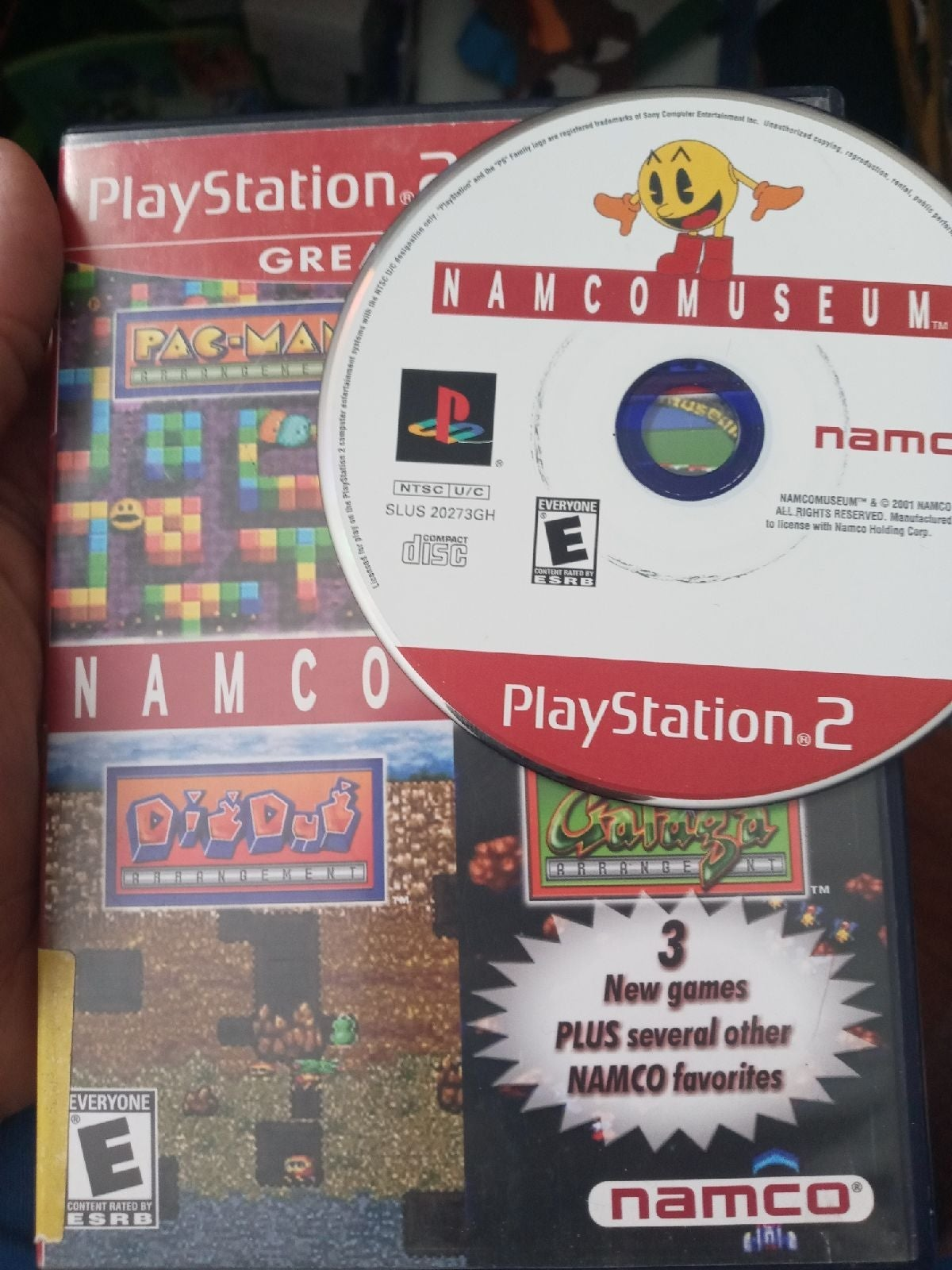 Namco Museum on Playstation 2