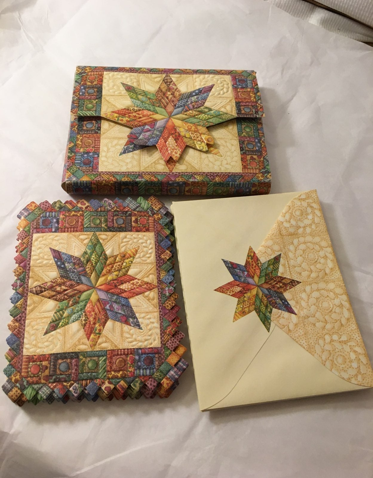 Blank 3D Quilt Greeting Cards/Envelopes