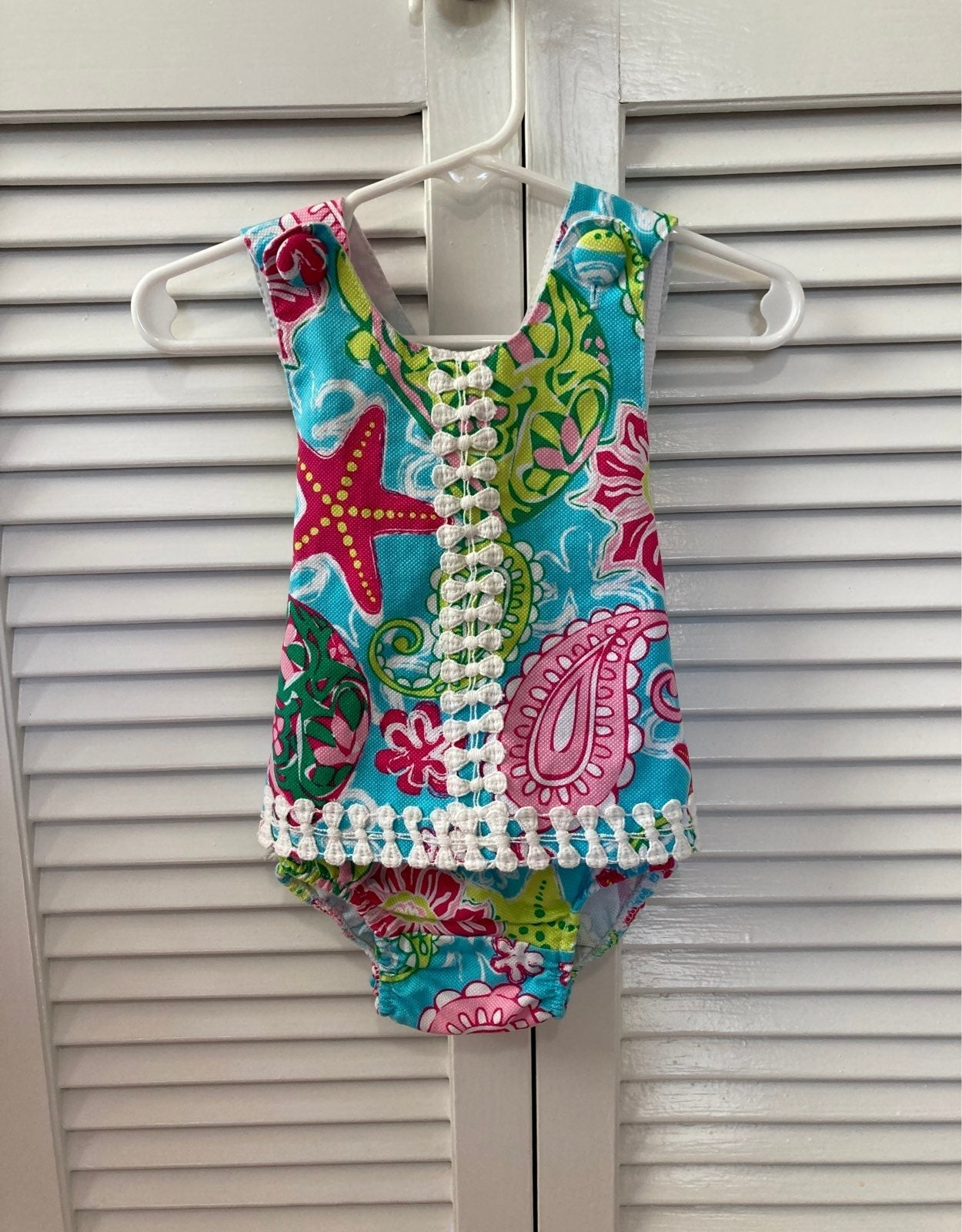 Lilly Pulitzer Style Baby Outfit