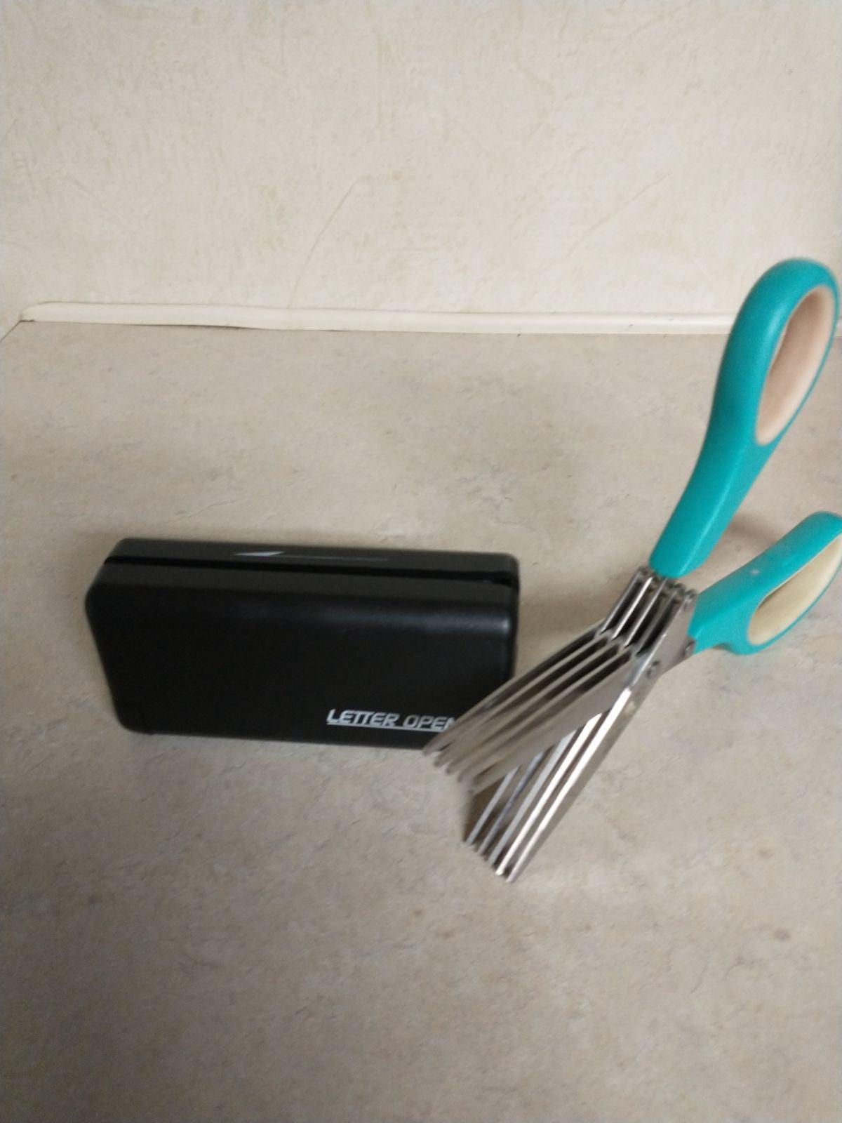 5 slot scissors & electronic letter open