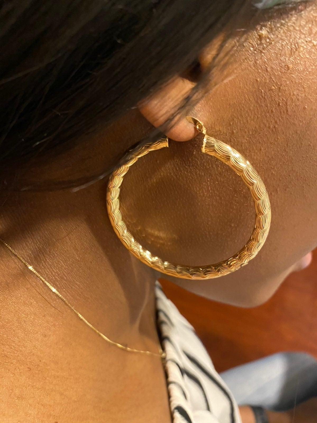 Hoops earring 18k micro gold plated 1fre