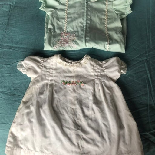 Vintage embroidered baby clothes