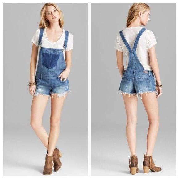 Blank NYC short denim overalls