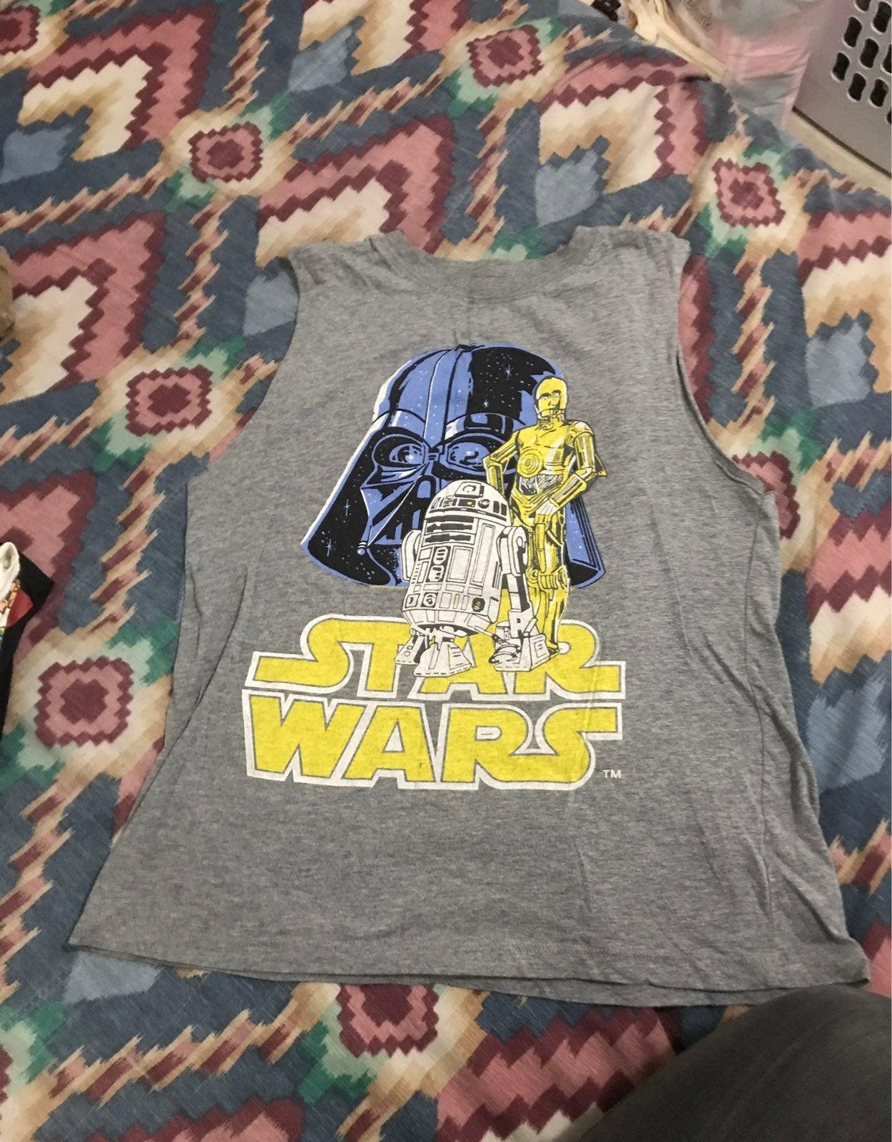 Star wars sleeveless shirt, S