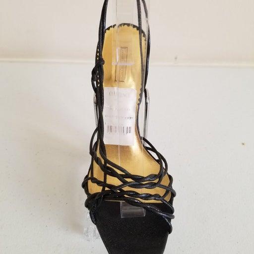 Report Black Cowhide Heel Sandals 7