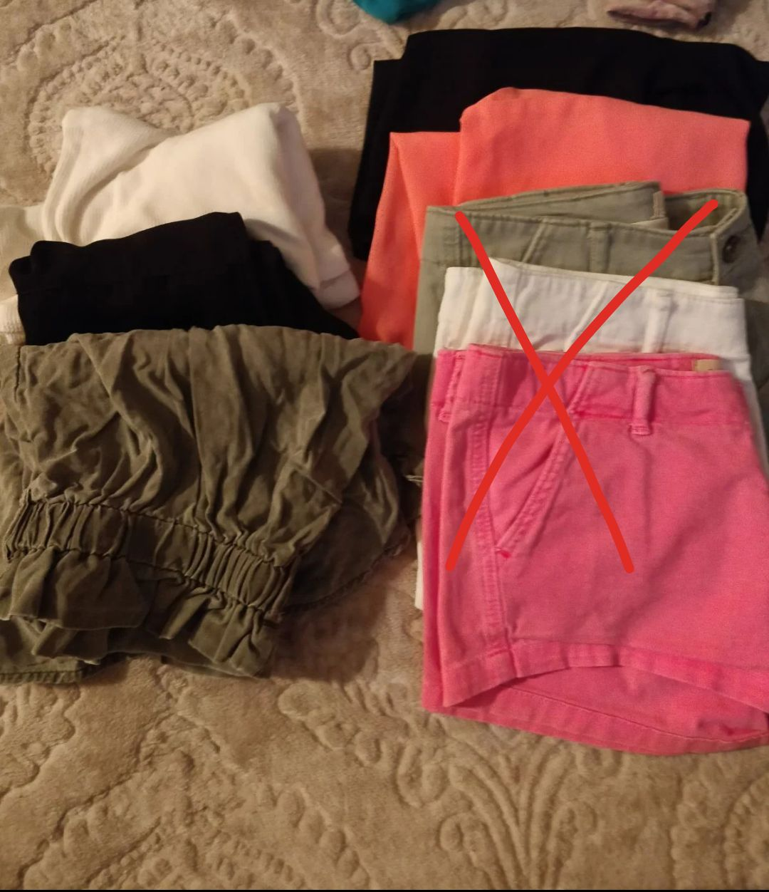 Clothing lot size extra small
