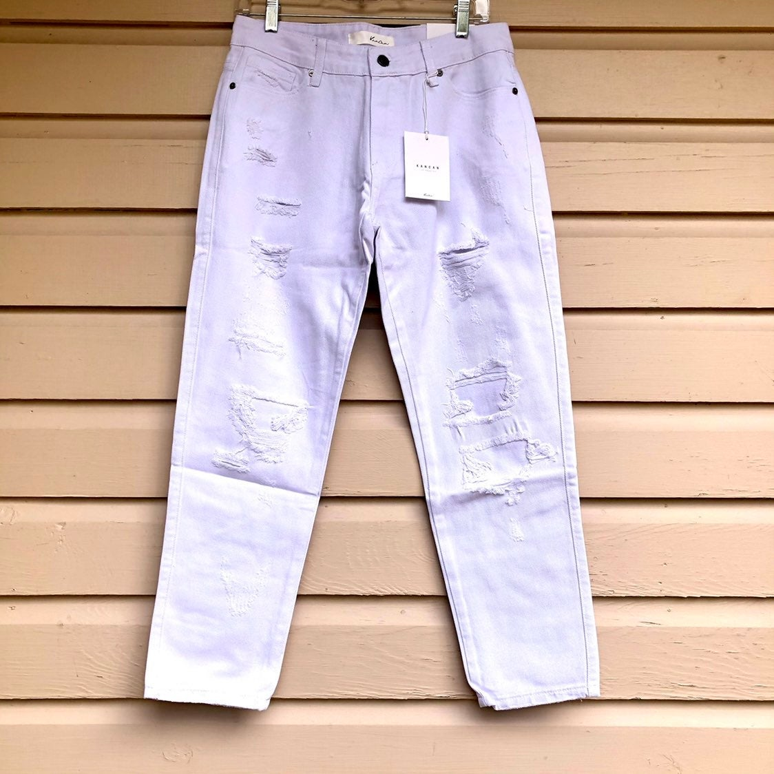 KanCan NWT White Jeans Ripped Cropped 9