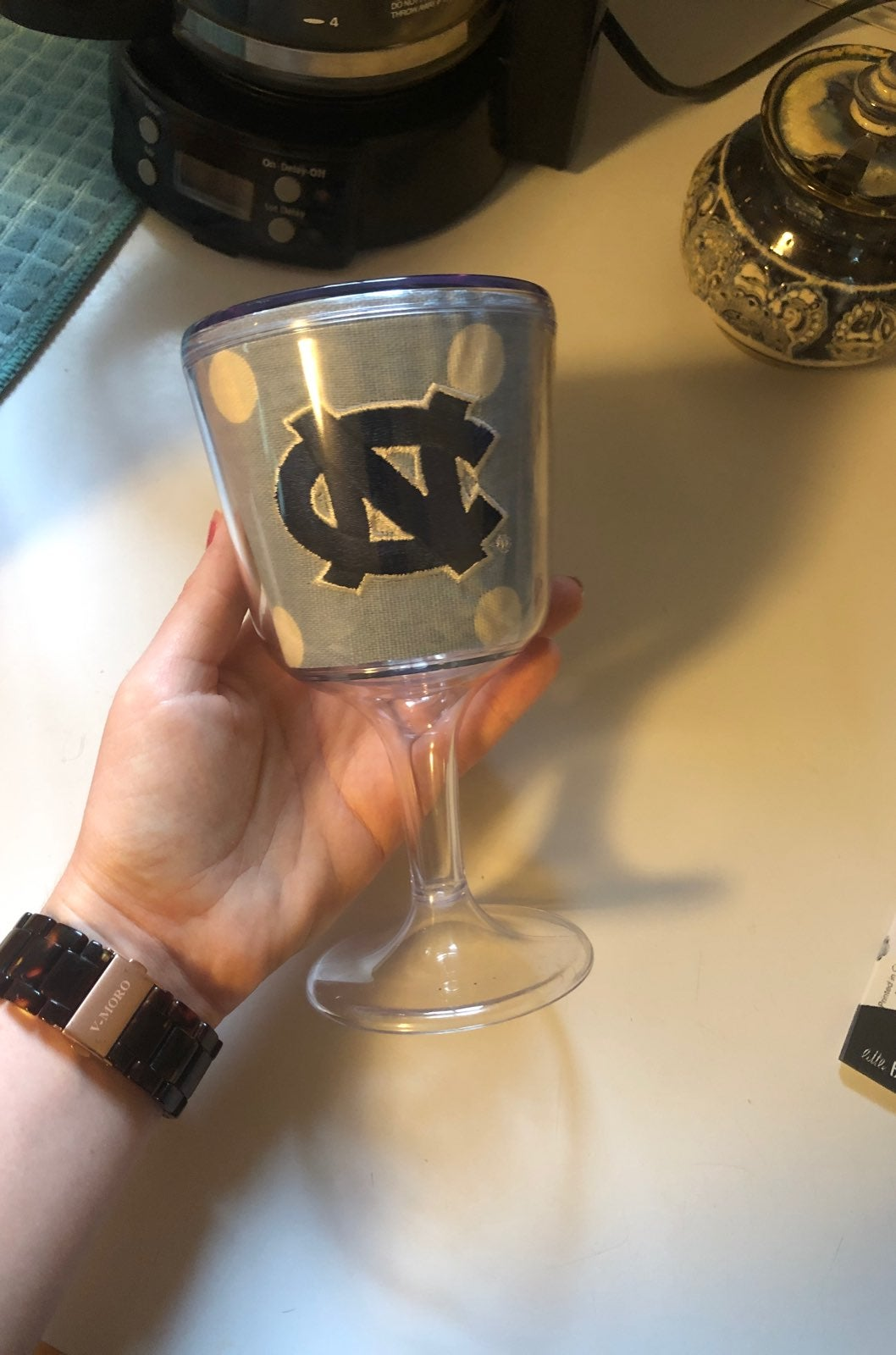 Carolina plastic wine glass