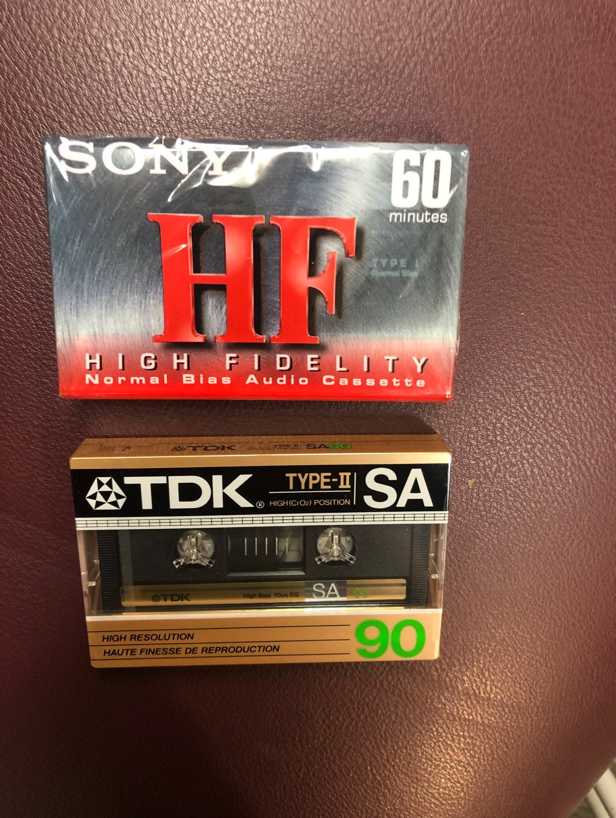 X2 hi-fi cassette tapes - blank sony