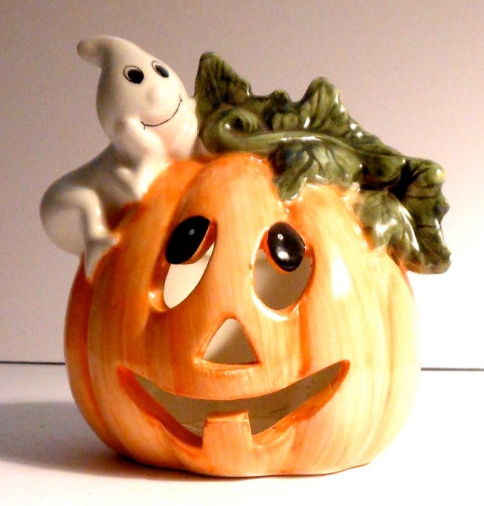 Ceramic Pumpkin and Friendly Ghost