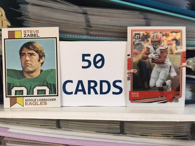 50 Football Cards