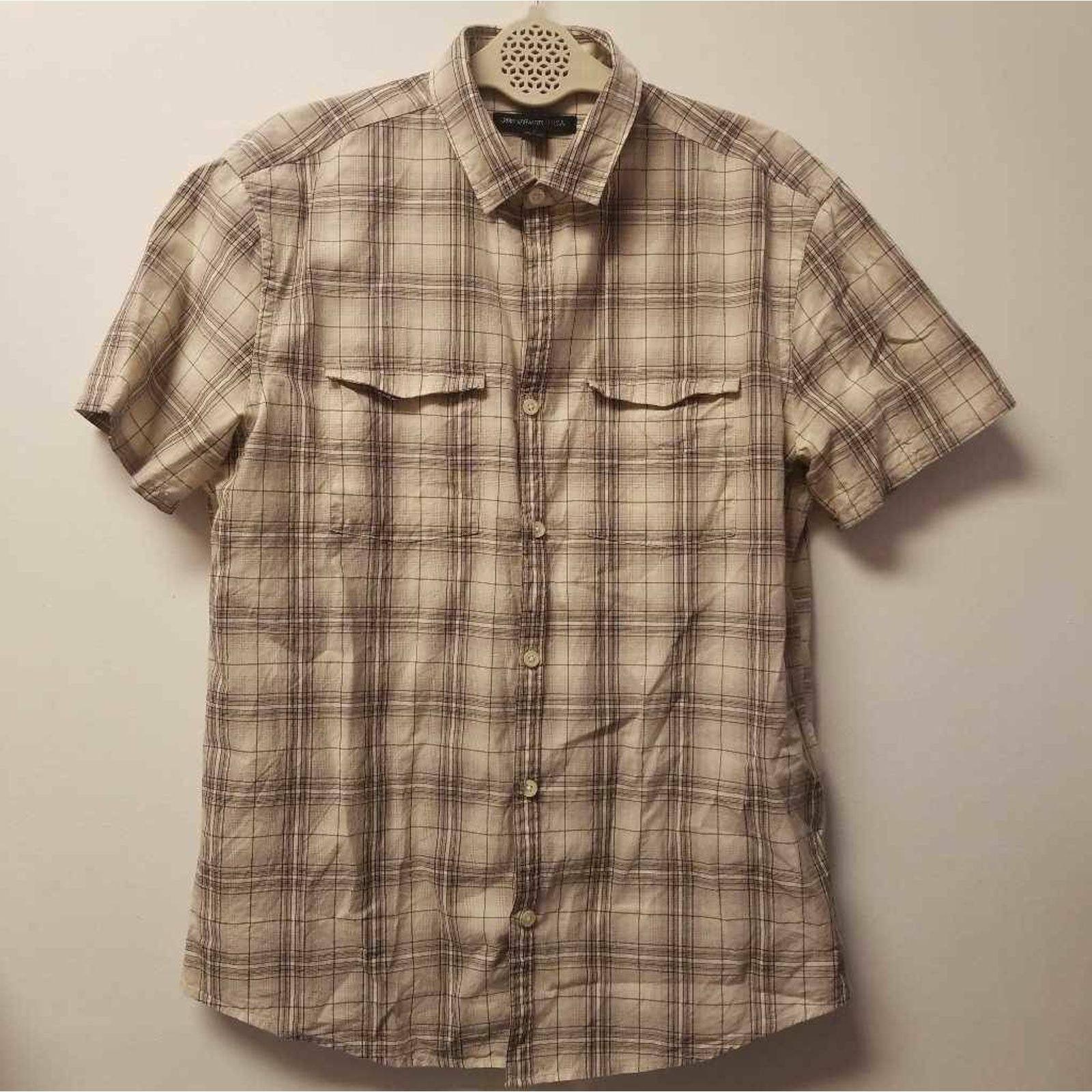 John Varvatos Mens Button Front Shirt S