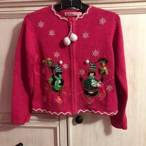 Girls size 8 10 Christmas Sweater