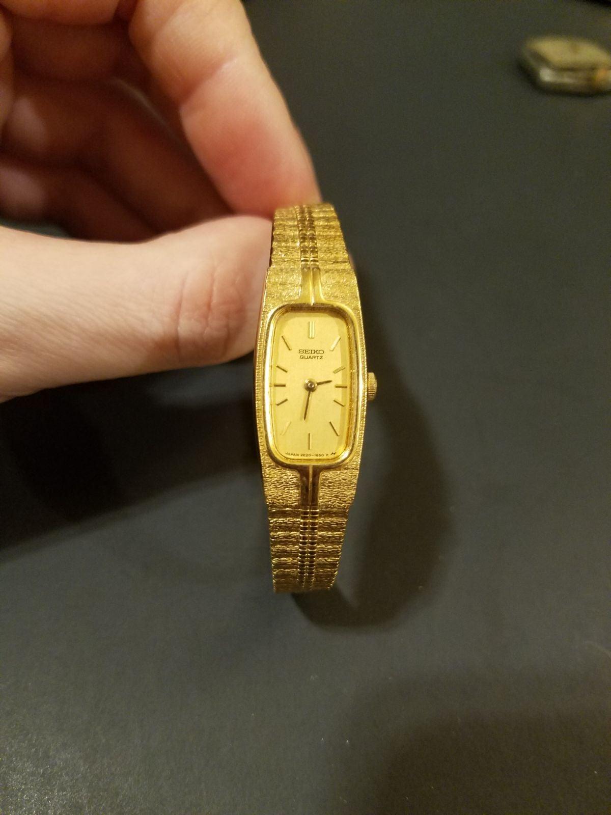 Seiko quartz vintage gold watch
