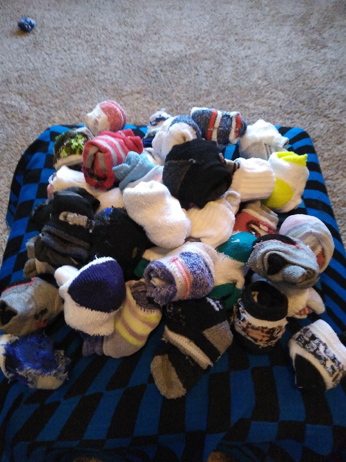 Lot of baby boy socks