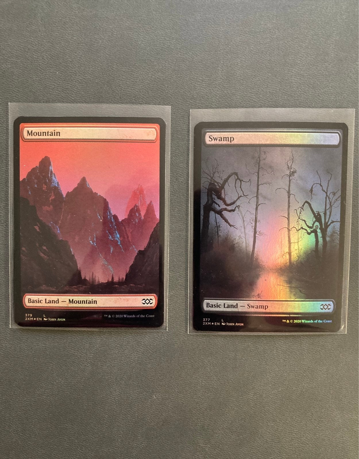 4 Full Art Foil Lands John Avon NM