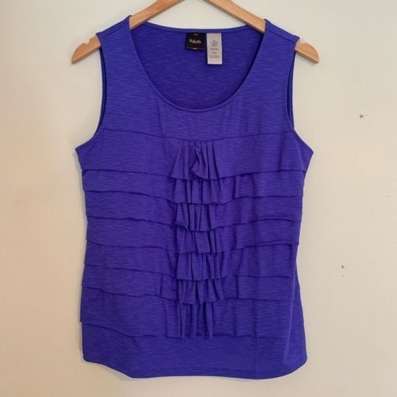 Rafaela Tank Ruffle purple sleeveless ru