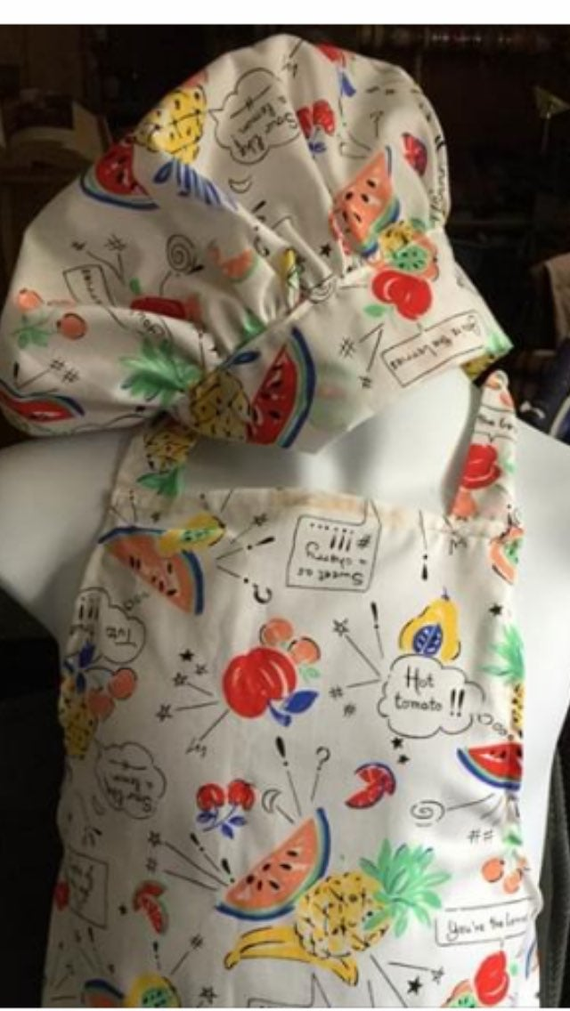 Kids apron and chef hat