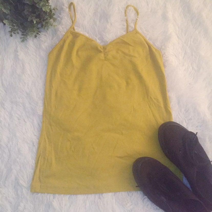 No Boundaries Yellow Cinched Cami