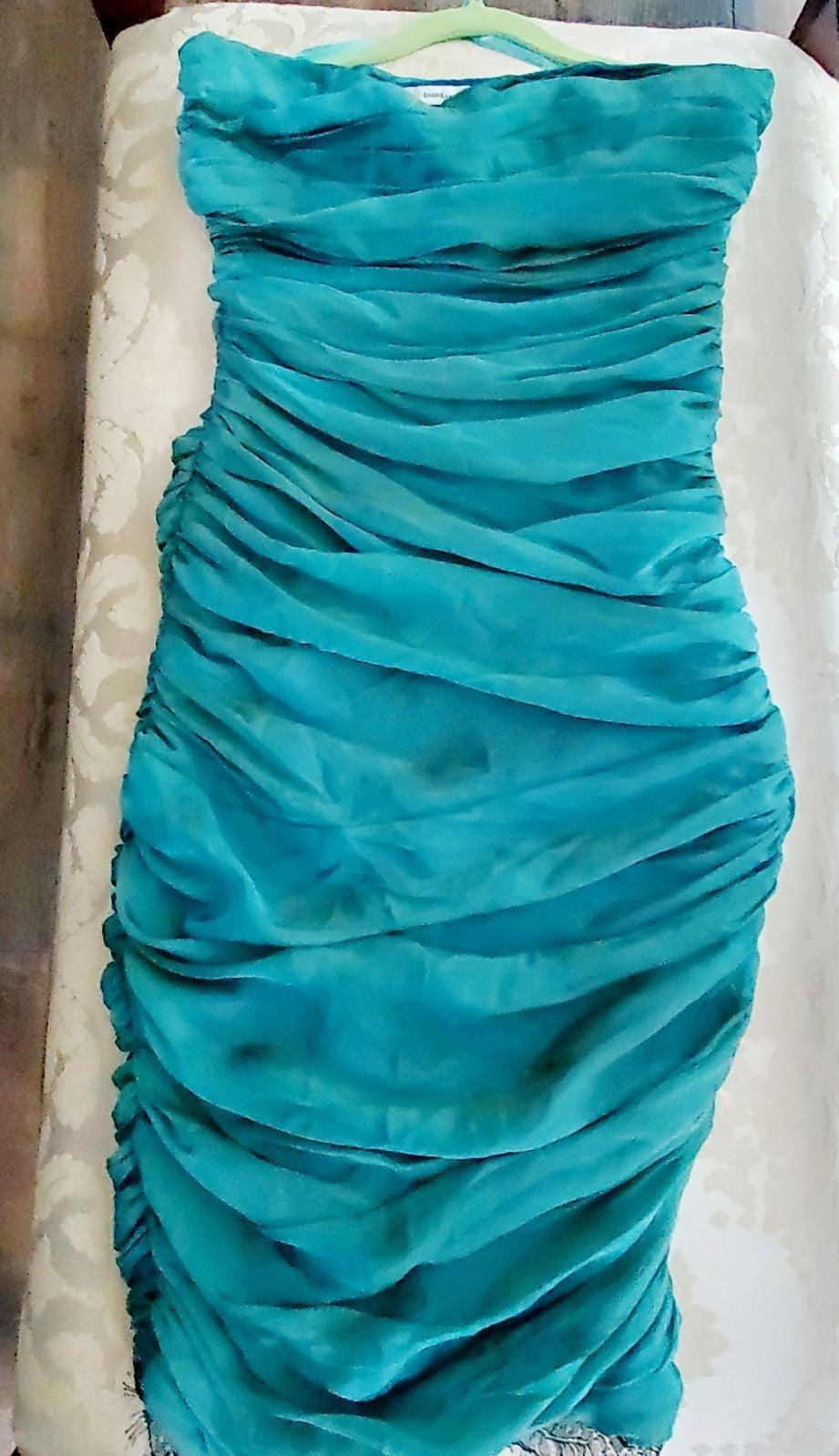 FUSTENBERG Teal/Jade Silk-chiffon  dress