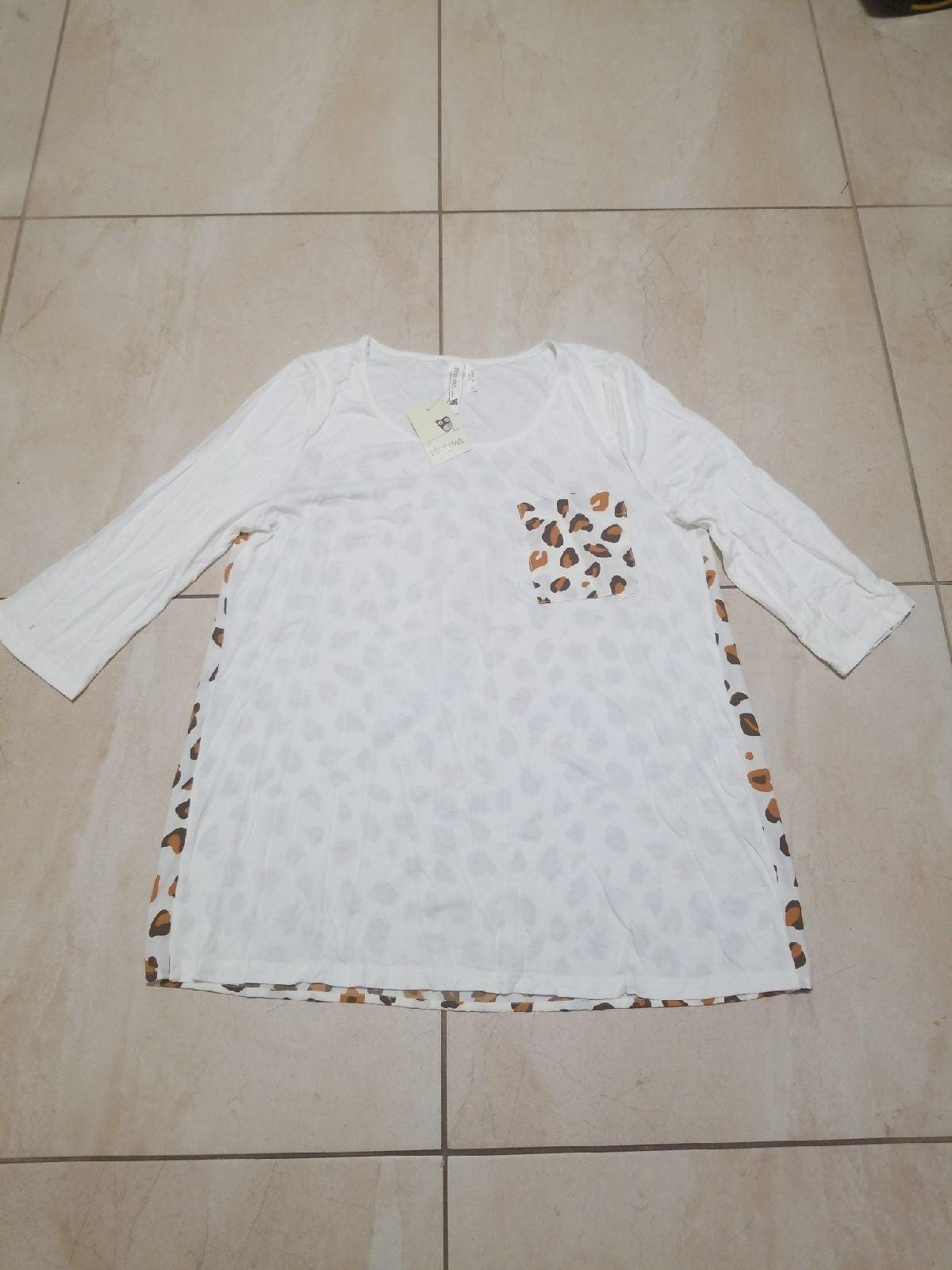 White cheetah Blouse