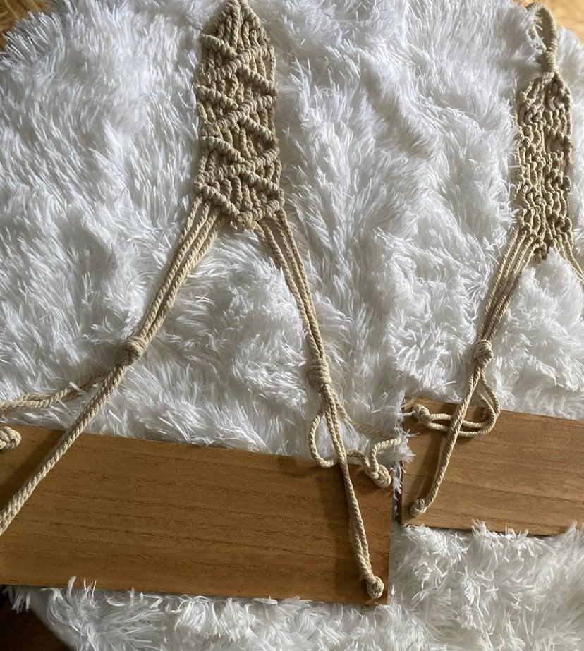 1 Macrame Hanging Shelf