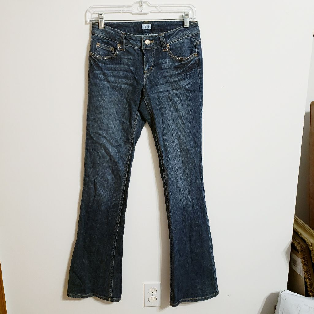 Cache Sequined Flared Crown Jean...0