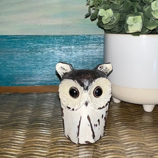 Wooden Owl for fall Halloween