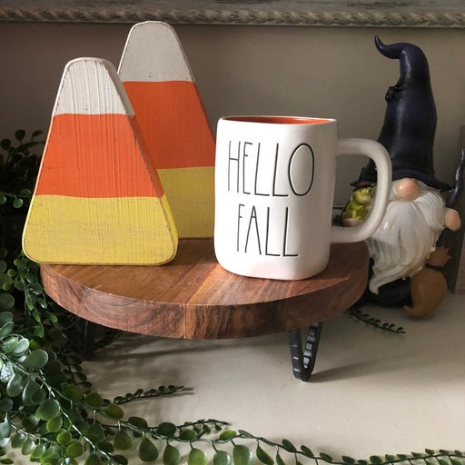 Rae Dunn Hello Fall Mug/ Candycorn