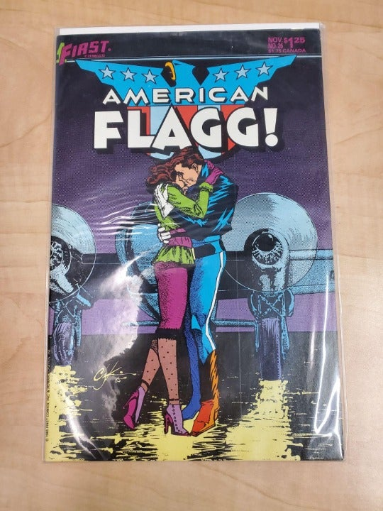 FIRST COMICS AMERICAN FLAGG COMIC BOOK