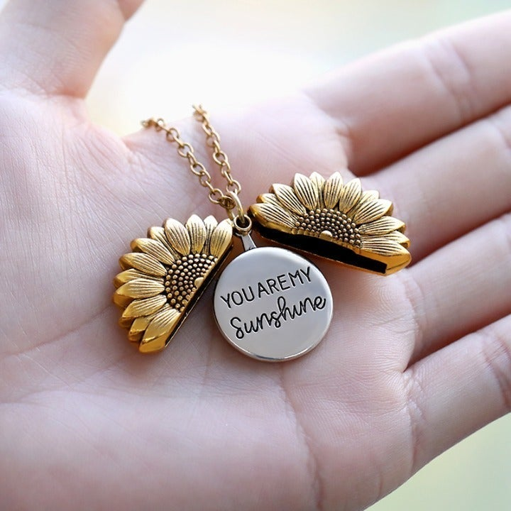 You Are My Sunshine Gold Necklace