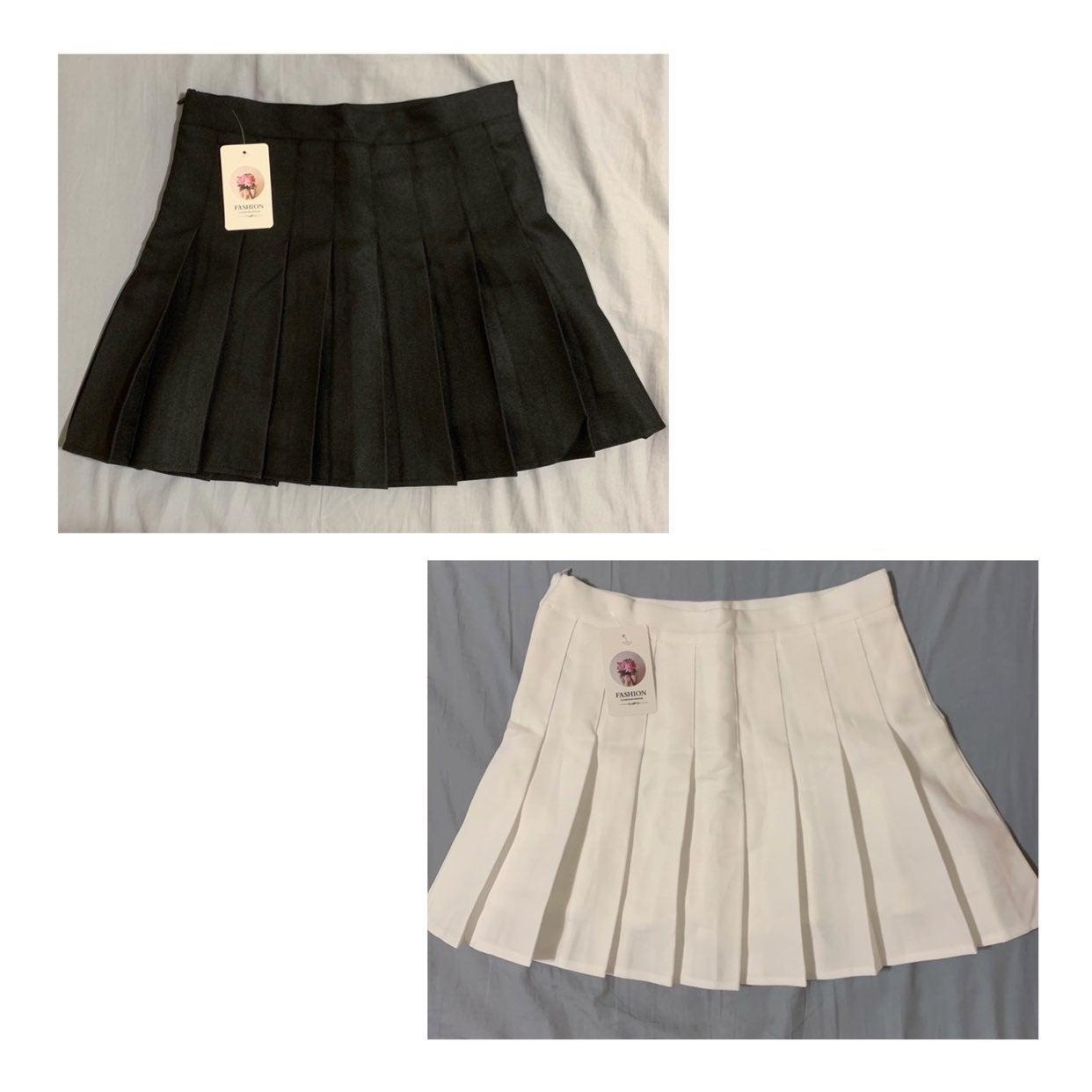 bundle of pleated skirts