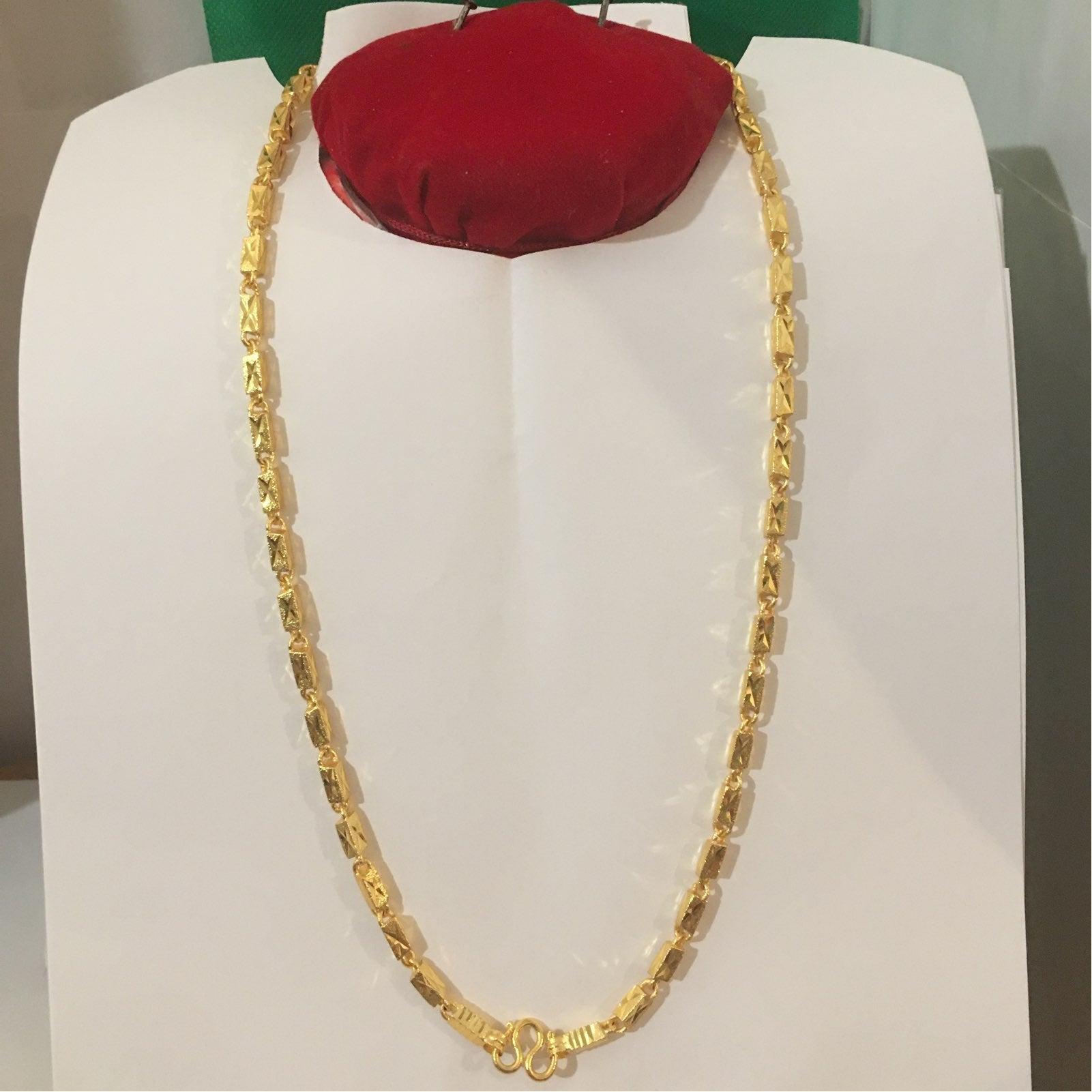 "Bangkok Gold Necklace 24"" long & 56g"