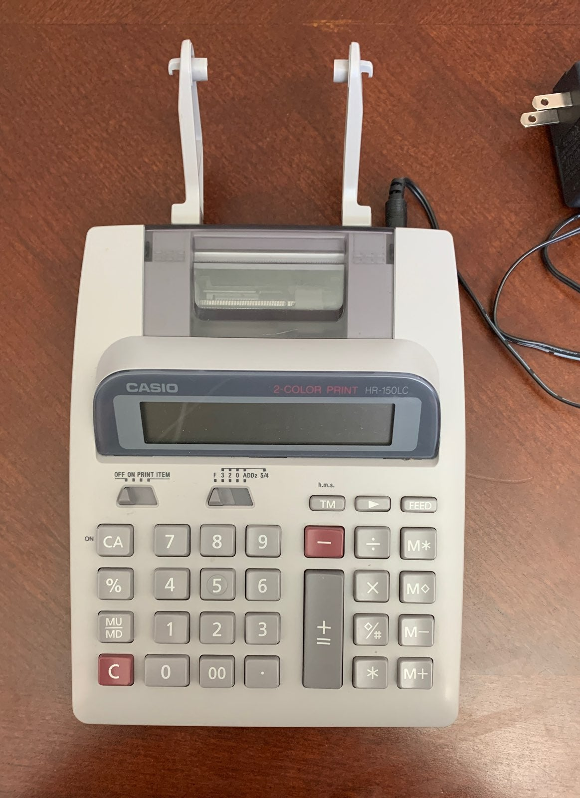 Casio calculator adding machine 2 color