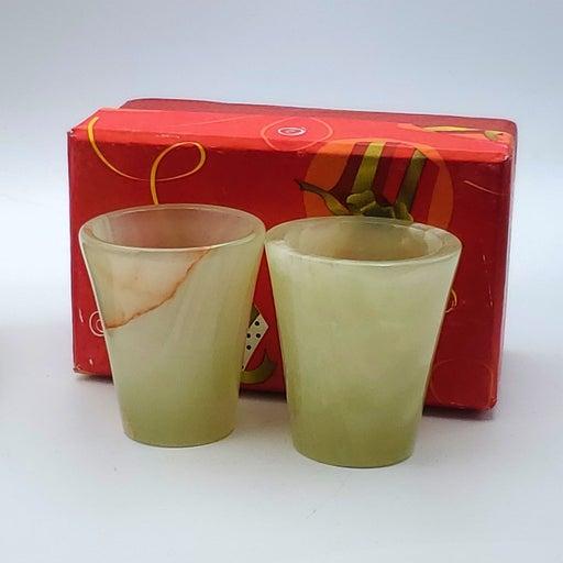 (2) Onyx Shot Glasses