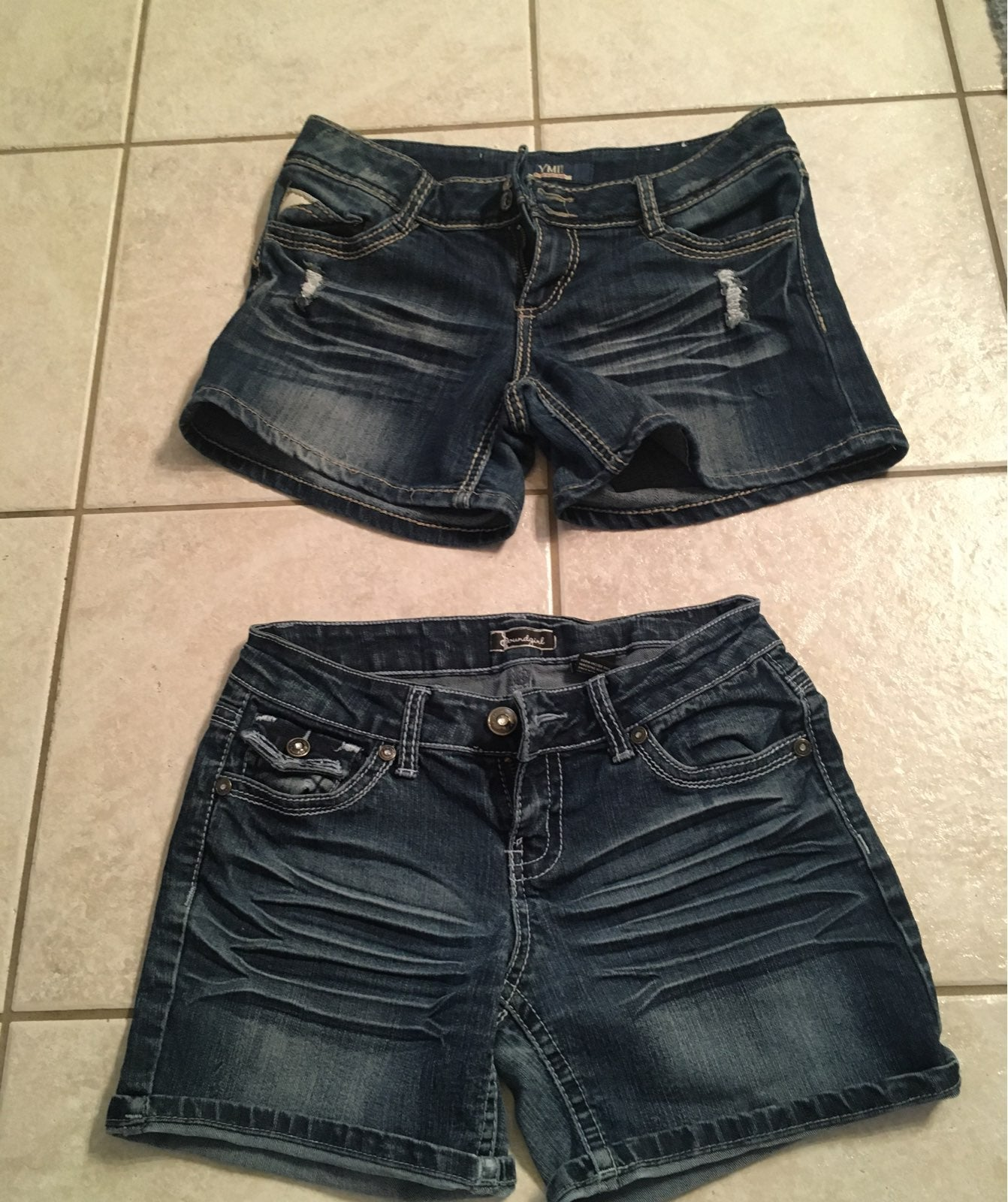 Two pair of junior size 7 jean shorts