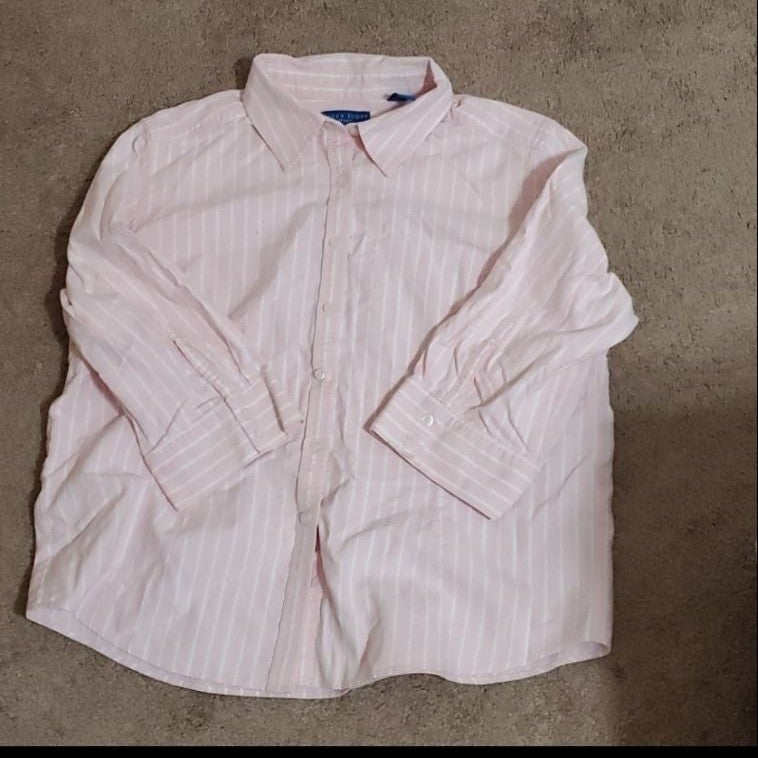 Karen Scott  Pink & White Shirt