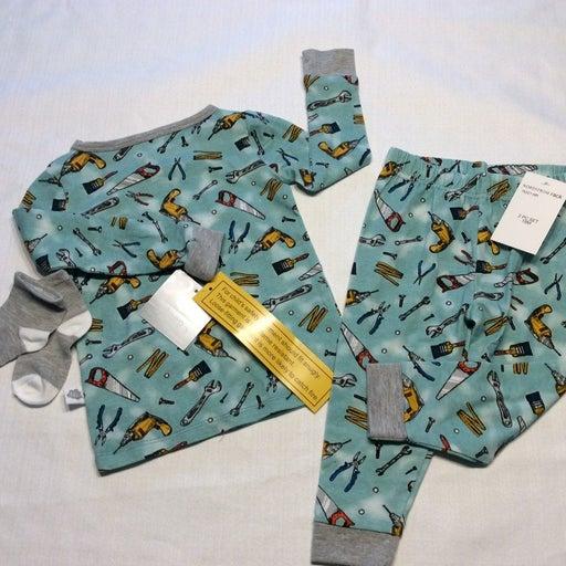 Nwt boys tool pajamas 18 months pjs