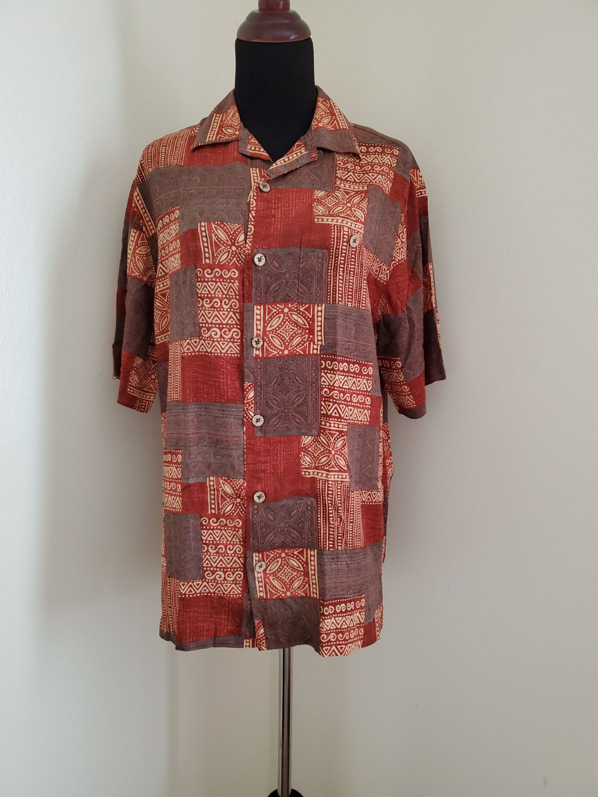 Caribbean Button Down S/S Shirt