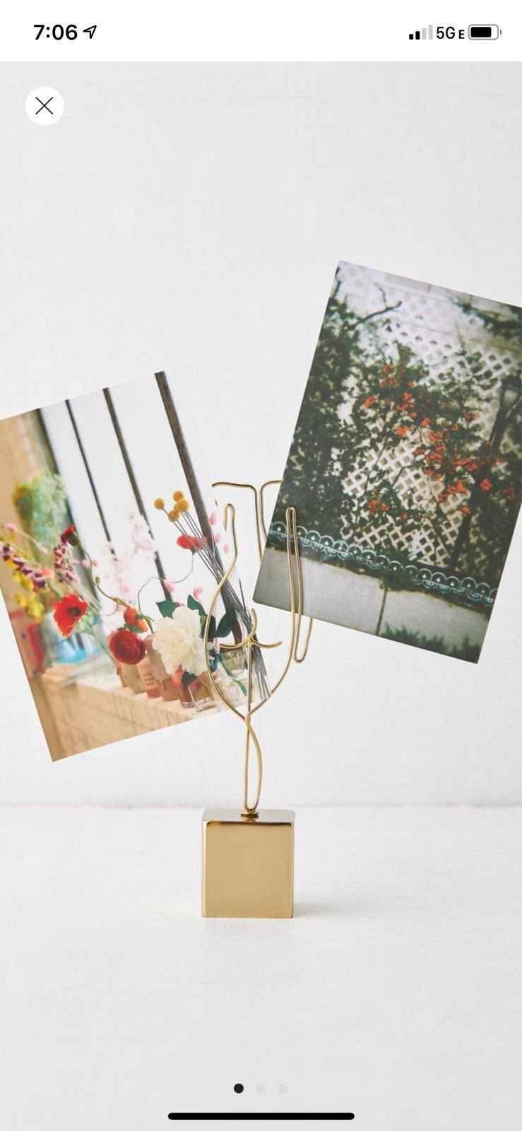 Urban outfitters polaroid picture holder