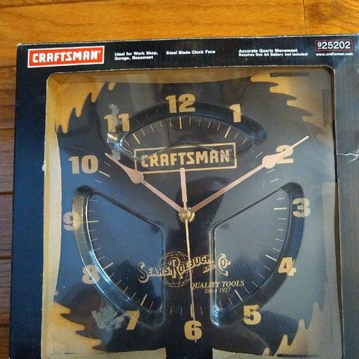 Vintage Craftsman saw blade clock