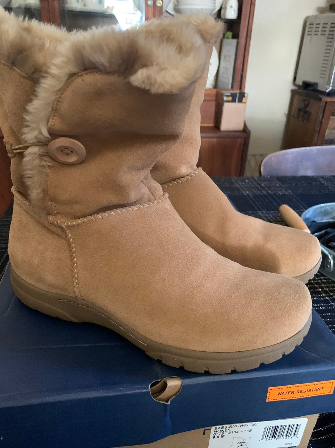 Bass leather Boots woman 8.5